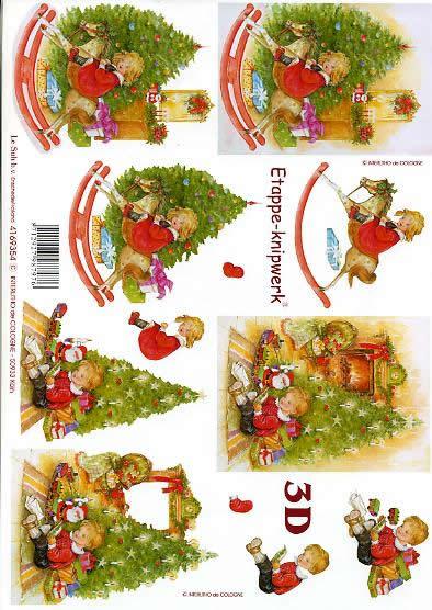 3D Bogen Schaukelpferd - Format A4,  Menschen - Kinder,  Le Suh,  3D Bogen,  Schaukelpferd,  Spielsachen