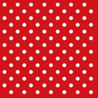 Servietten 25x25 cm - Dots Red