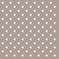 Cocktail Servietten DOTS TAUPE