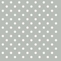 Cocktail Servietten Dots Grey