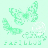 Cocktail Servietten PAPILLON AQUA
