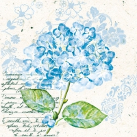 Cocktail Servietten Flou d´Hortensia Blue