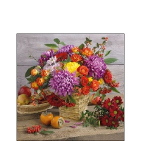 Servietten 25x25 cm - Autumn Bouquet