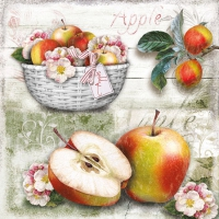 Servietten 25x25 cm - Apple Basket