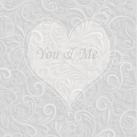 Napkins 25x25 cm - You & Me Champagne