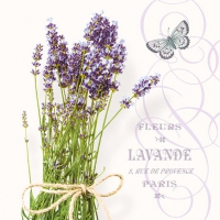 Servietten 25x25 cm - Bunch Of Lavender
