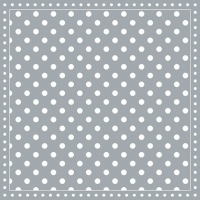 Servietten 25x25 cm - Stripes Dots Grey