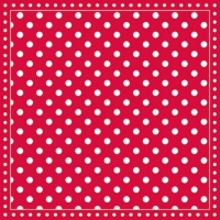 Servietten 25x25 cm - Stripes Dots Red