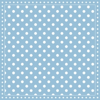 Servietten 25x25 cm - Stripes Dots Light Blue