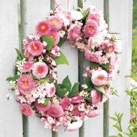 Servietten 25x25 cm - Wreath of Bellies Rose