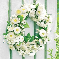 Servietten 25x25 cm - Wreath of Bellies White
