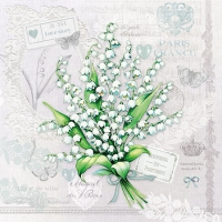 Servietten 25x25 cm - Lily of the Valley