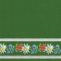 Servietten 25x25 cm - Bavarian Flowers Green
