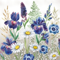 Servietten 25x25 cm - Mixed Meadow Flowers