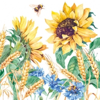 Servietten 25x25 cm - Sunflower And Wheat White