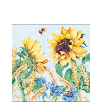 Servietten 25x25 cm - Sunflower And Wheat Blue
