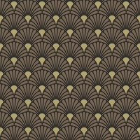 Servietten 25x25 cm - Art Deco Black Gold