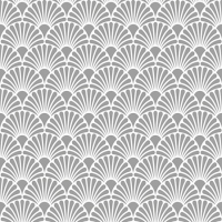 Servietten 25x25 cm - Art Deco Silver White