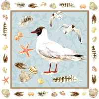 Servietten 25x25 cm - Black Headed Gull Blue