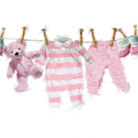 Servietten 25x25 cm - Baby Girl Clothes