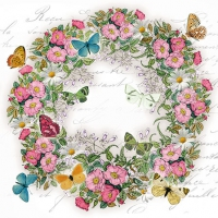 Servietten 25x25 cm - Wreath Of Flowers