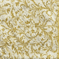 Servietten 33x33 cm - Elegance Damask Cream/Gold