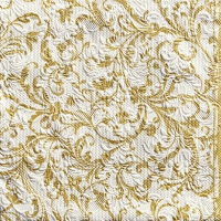 Servietten 33x33 cm - Elegance Damask White/Gold