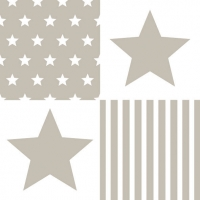 Lunch Servietten STAR STRIPES SAND
