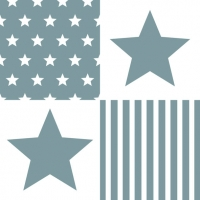 Lunch Servietten STAR STRIPES GREY