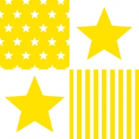 Lunch Servietten STAR STRIPES YELLOW