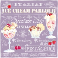 Lunch Servietten Ice Cream Lilac