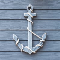 Lunch Servietten Wooden Anchor Blue