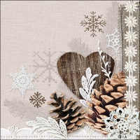 Servietten 33x33 cm - Winter Natur