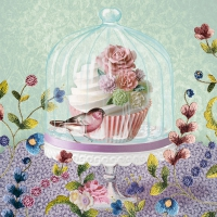 Servietten 33x33 cm - Cupcake in Glass