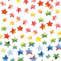 Lunch Servietten Colourful Stars Mix