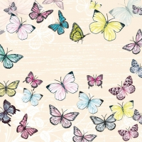 Servietten 33x33 cm - Butterfly Cream