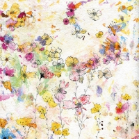 Lunch Servietten Splatter Floral