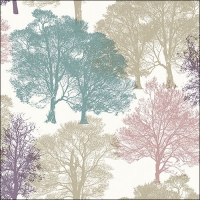 Servietten 33x33 cm - Skeleton Trees Beige