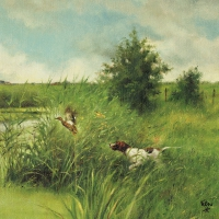 Servietten 33x33 cm - Dog Hunts Duck