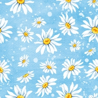 Lunch Servietten Daisies Blue