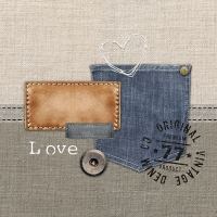 Servietten 33x33 cm - Original Denim