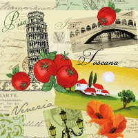 Servietten 33x33 cm - Collage Italia