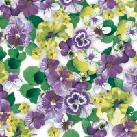 Servietten 33x33 cm - Pansy All Over Purple (Stiefmütterchen)