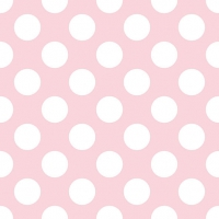 Servietten 33x33 cm - Big Dots Light Rose
