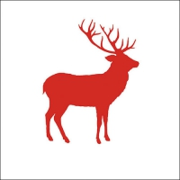 Lunch Servietten Deer Contour Red