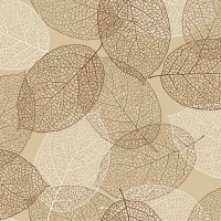 Servietten 33x33 cm - Natural Leaves Beige