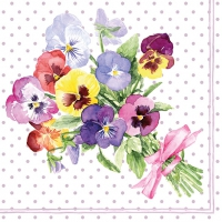 Servietten 33x33 cm - Bunch of Violets Berry