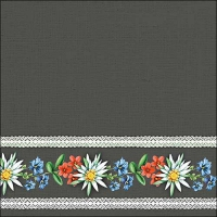 Servietten 33x33 cm - Bavarian Flowers Grey