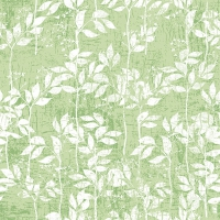 Servietten 33x33 cm - Leaves Pattern Light Green