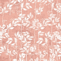 Servietten 33x33 cm - Leaves Pattern Rose